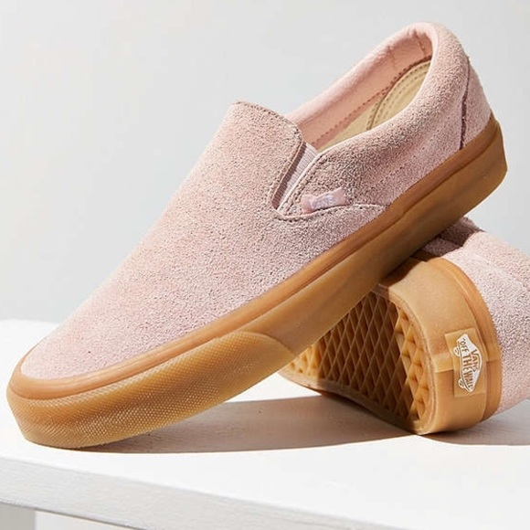 0bf133ac0a Vans Slip On Fuzzy Suede Sepia Rose with Gum Soles